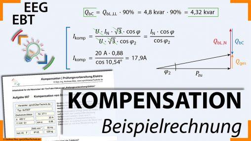 007-Video-Aufgabensammlung-Drehstrom-Motor-Kompensation_Loesung-Pruefungsvorbereitung-Elektroniker-sprichUeberTechnik-Nies