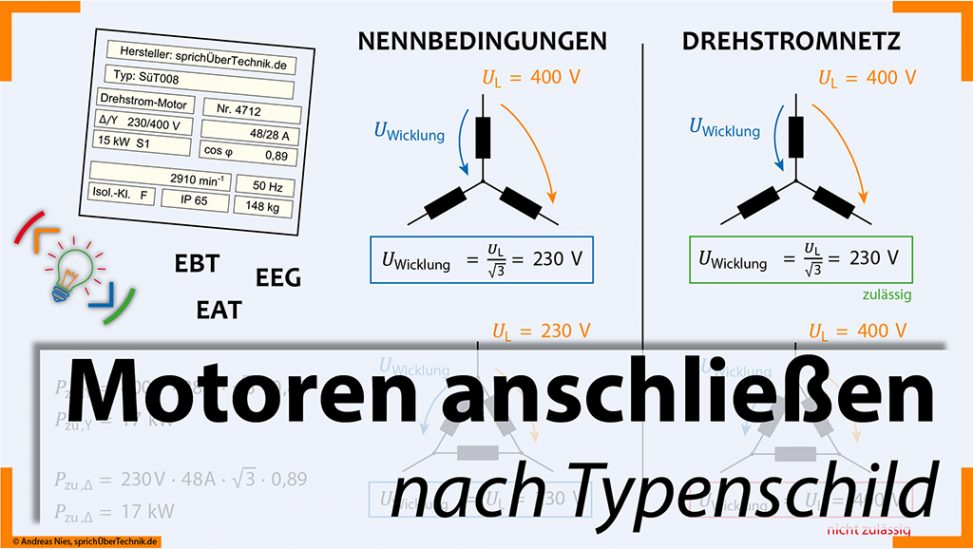 008-Video-Aufgabensammlung-Motor-Anschluss-Stern-Dreieck-Pruefungsvorbereitung-Elektroniker-sprichUeberTechnik-Nies